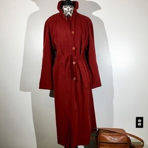 Expression Wine Trench coat with Belt - XL